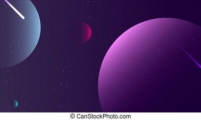 Abstract planets for poster, art video illustration.