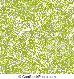 Abstract plants texture seamless pattern background