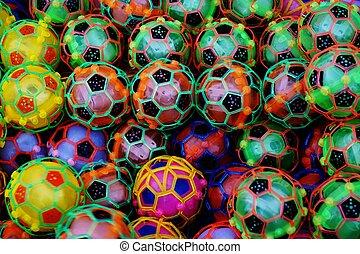 abstract plastic football