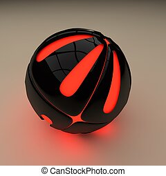 Abstract plastic sphere. The plastic layer. A layer of...