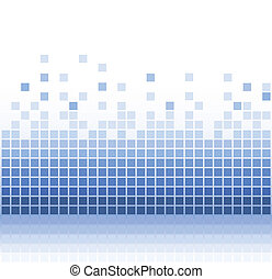 abstract, plein, blauwgroen, pixel, mozaïek