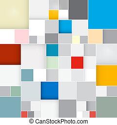 abstract, plein, retro, achtergrond, vector