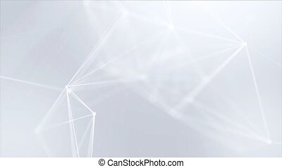 Abstract Plexus Particles Connection Structure Moving loop Background