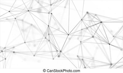 Abstract Plexus Particles Moving With Shine loop Background
