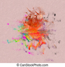 Abstract pointless composition of different colors. - ...