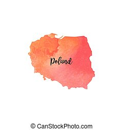 Abstract Poland map