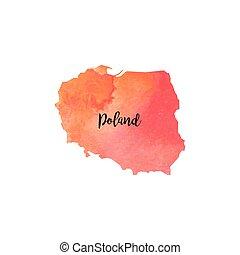 Abstract Poland map