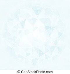 abstract poligonal background in blue and white tones, vector