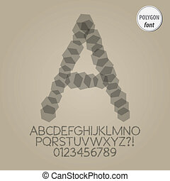 Abstract Polygon Alphabet and Digit Vector