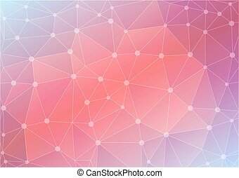 abstract polygon background in pink tones