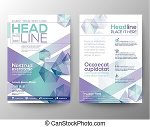 Abstract polygon design vector template layout for magazine...