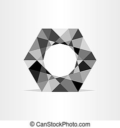 abstract polygon grayscale geometric background