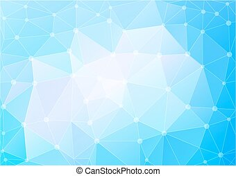 abstract polygon in blue tones background