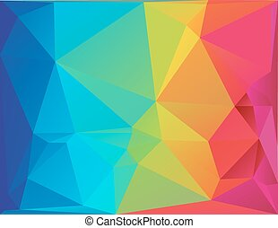 Abstract polygon spectrum background - Differently sized...