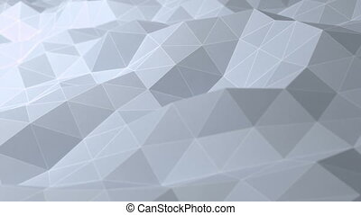 Abstract polygonal background, seamless looping 3d...