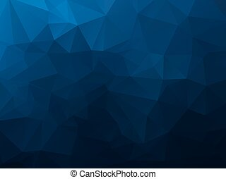 abstract polygonal background, vector dark blue mosaic pattern