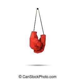 Abstract Polygonal Boxing Gloves. Illustration