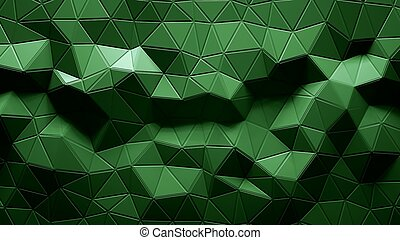Abstract Polygonal Geometric background green color