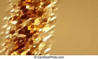 Abstract Polygonal Geometric Surface Loop. Computer...
