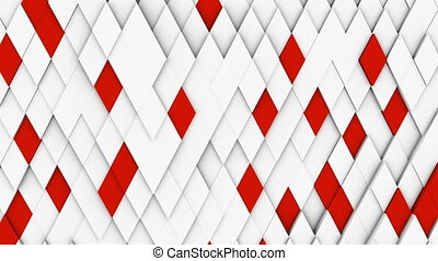 white minimal polygonal grid pattern with some color...