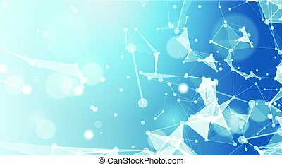 Abstract Polygonal Geometrical Background Banner With Copy Space