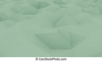 Abstract polygonal green motion background