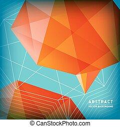 abstract, polygonal, hersenen, vorm, laag, achtergrond