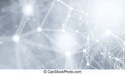 Abstract polygonal Loop background, geometrical backdrop with connecting dots, lines, triangles for global web, connection, science, futuristic concept. minimalist, trendy