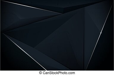 Abstract polygonal pattern luxury dark blue with silver