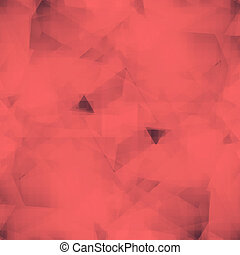 Abstract polygonal red background