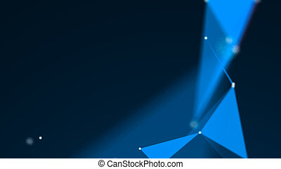 Abstract Polygonal Space Background with Connecting Dots and Lines. 3d rendering