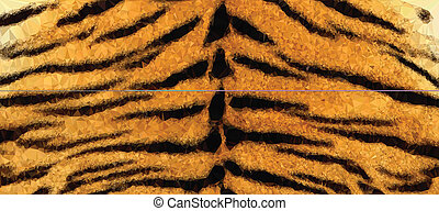 Abstract Polygonal Tiger Background