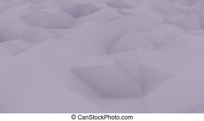 Abstract polygonal violet surface, shallow focus close-up. Loopable motion background