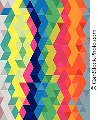 Abstract pop art color background in triangles texture