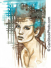 abstract portrait woman