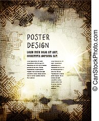 abstract poster