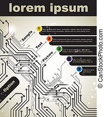 digital technologies - Abstract poster of modern digital...