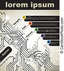 digital technologies - Abstract poster of modern digital...