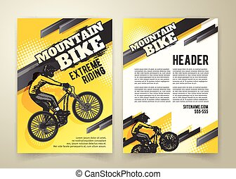 Abstract poster of motocross competitions