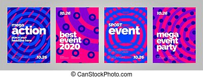 Abstract poster template design for mega event
