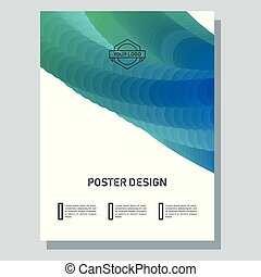 Abstract poster with blend