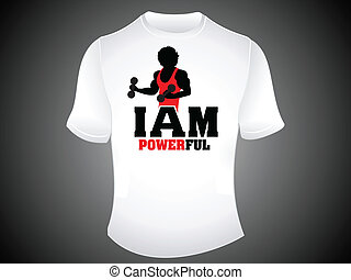 abstract powerful tshirt template