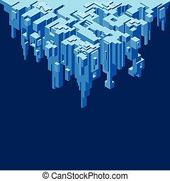 Abstract Precipice Vector