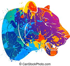 Abstract predatory cat Leopard - Abstract predatory big cat....