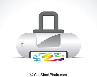 abstract printer icon vector
