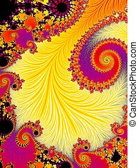 Abstract psychedelic background with rainbow colors