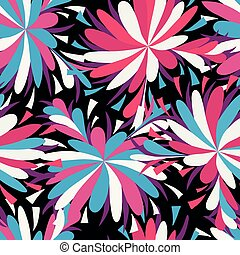 abstract psychedelic beautiful flower seamless background