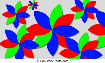 Abstract psychedelic flowers. 3d rendering background
