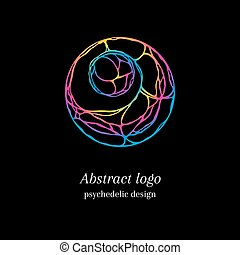 Abstract psychedelic logo - Stylish abstract tangle logo,...
