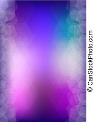 Abstract purple and blue vector background with copy space.